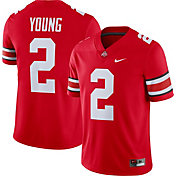 Nike Men's Chase Young Ohio State Buckeyes #2 Scarlet Dri-FIT Game Football Jersey