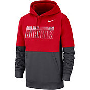 Nike Men's Ohio State Buckeyes Scarlet Therma-FIT Sideline Fleece Football Hoodie
