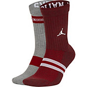 Jordan Oklahoma Sooners Multi Crew Socks 2 Pack