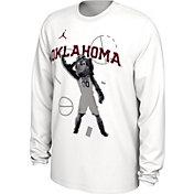 Jordan Men's Oklahoma Sooners Bench Long Sleeve White T-Shirt