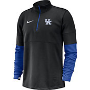 Nike Men's Kentucky Wildcats Football Sideline Therma-FIT Black Half-Zip  Shirt