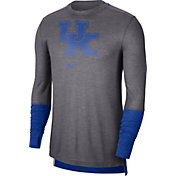 Nike Men's Kentucky Wildcats Grey Football Sideline Player Breathe Long Sleeve T-Shirt
