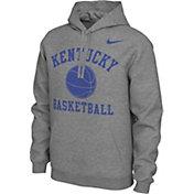 Nike Men's Kentucky Wildcats Grey Pullover Basketball Hoodie