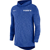 Nike Men's Kentucky Wildcats Blue Dri-FIT Slub Long Sleeve Hooded T-Shirt