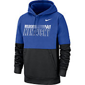 Nike Men's Kentucky Wildcats Blue Therma-FIT Sideline Fleece Football Hoodie