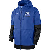 Nike Men's Kentucky Wildcats Blue Therma Football Sideline Full-Zip Hoodie