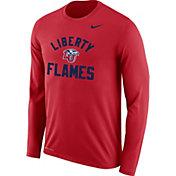 Nike Men's Liberty Flames Red Dri-FIT Legend Long Sleeve T-Shirt