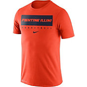 Nike Men's Illinois Fighting Illini Orange Basketball Legend Practice T-Shirt
