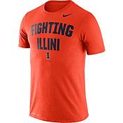 Nike Men's Illinois Fighting Illini Orange Dri-FIT Phrase Performance T-Shirt