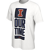 Nike Men's Illinois Fighting Illini 'Our Time' Bench White T-Shirt