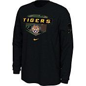 Nike Men's LSU Tigers 'Veterans Day' Long Sleeve Black T-Shirt