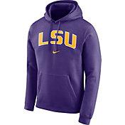 Nike Men's LSU Tigers Purple Club Arch Pullover Fleece Hoodie