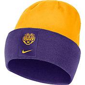 Nike Men's LSU Tigers Purple/Gold Dri-FIT Football Sideline Cuffed Knit Beanie