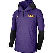 Nike Men's LSU Tigers Purple Lightweight Football Sideline Player's Jacket