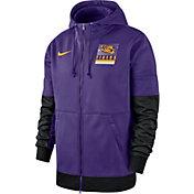 Nike Men's LSU Tigers Purple Therma Football Sideline Full-Zip Hoodie