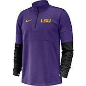Nike Men's LSU Tigers Purple Football Sideline Therma-FIT Half-Zip Shirt