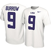 Nike Men's Joe Burrow LSU Tigers #9 White College Alumni Core T-Shirt