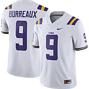 Nike Men's Joe 'Burreaux' LSU Tigers #9 Dri-FIT Game Football White Jersey