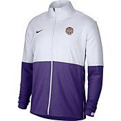 Nike Men's LSU Tigers White/Purple Colorblock Woven Full-Zip Jacket