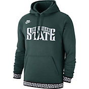 Nike Men's Michigan State Spartans Green Club College Pullover Fleece Hoodie