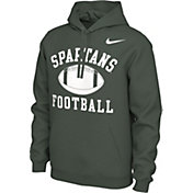 Nike Men's Michigan State Spartans Green Pullover Football Hoodie
