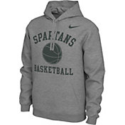 Nike Men's Michigan State Spartans Grey Pullover Basketball Hoodie