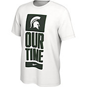 Nike Men's Michigan State Spartans 'Our Time' Bench White T-Shirt