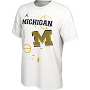 Jordan Men's Michigan Wolverines Bench White T-Shirt