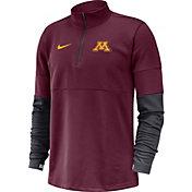 Nike Men's Minnesota Golden Gophers Maroon Football Sideline Therma-FIT Half-Zip Pullover Shirt