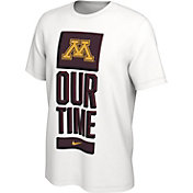 Nike Men's Minnesota Golden Gophers 'Our Time' Bench White T-Shirt