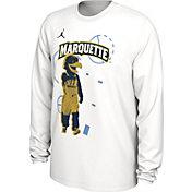 Jordan Men's Marquette Golden Eagles Bench Long Sleeve White T-Shirt