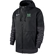 Nike Men's Marshall Thundering Herd Therma-FIT Full-Zip Black Hoodie