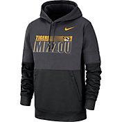 Nike Men's Missouri Tigers Grey Therma-FIT Sideline Fleece Football Hoodie