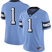 Nike Men's North Carolina Tar Heels #1 Carolina Blue Throwback Game Football Jersey
