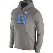 Nike Men's North Carolina Tar Heels Grey Club Pullover Hoodie