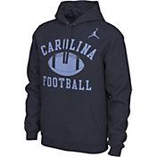 Nike Men's North Carolina Tar Heels Navy Pullover Football Hoodie