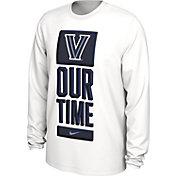 Nike Men's Villanova Wildcats 'Our Time' Bench Long Sleeve White T-Shirt