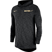 Nike Men's Purdue Boilermakers Dri-FIT Slub Long Sleeve Hooded Black T-Shirt