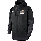 Nike Men's Purdue Boilermakers Therma Football Sideline Full-Zip Black Hoodie