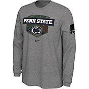Nike Men's Penn State Nittany Lions Grey 'Veterans Day' Long Sleeve T-Shirt