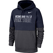 Nike Men's Penn State Nittany Lions Blue Therma-FIT Sideline Fleece Football Hoodie