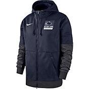 Nike Men's Penn State Nittany Lions Blue Therma Football Sideline Full-Zip Hoodie