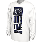 Nike Men's Penn State Nittany Lions 'Our Time' Bench Long Sleeve White T-Shirt