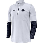 Nike Men's Penn State Nittany Lions Football Sideline Therma-FIT White Half-Zip  Shirt