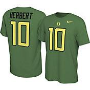 Nike Men's Justin Herbert Oregon Ducks #10 Green College Alumni Core T-Shirt