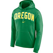 Nike Men's Oregon Ducks Green Club Arch Pullover Fleece Hoodie