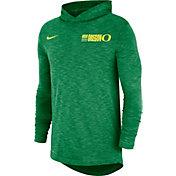 Nike Men's Oregon Ducks Green Dri-FIT Slub Long Sleeve Hooded T-Shirt