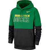 Nike Men's Oregon Ducks Green Therma-FIT Sideline Fleece Football Hoodie