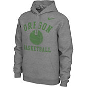 Nike Men's Oregon Ducks Grey Pullover Basketball Hoodie