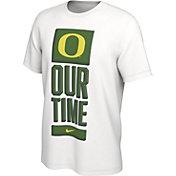 Nike Men's Oregon Ducks 'Our Time' Bench White T-Shirt